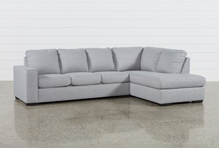 Lucy Grey 2 Piece Sleeper Sectional W/Raf Chaise