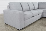 Lucy Grey 2 Piece Sleeper Sectional W/Raf Chaise - Left