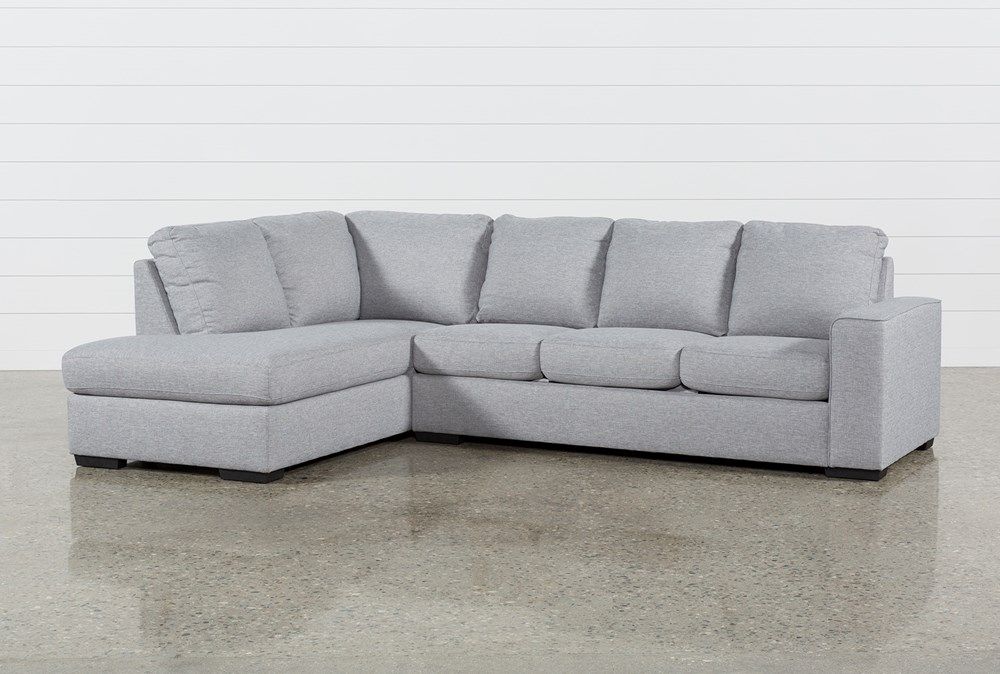 "Lucy Grey 2 Piece 114"" Sectional With Left Arm Facing Chaise"