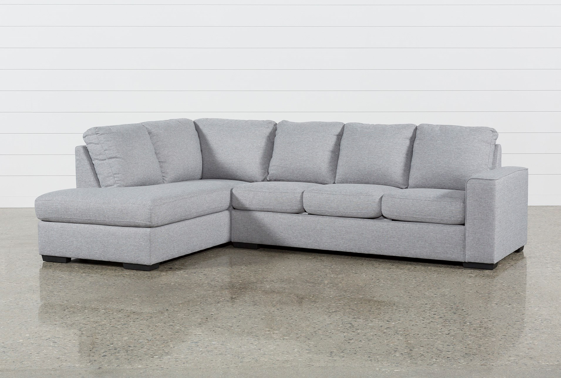 Lucy Grey 2 Piece Sectional W/Laf Chaise | Living Spaces