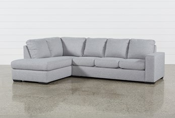 """Lucy Grey 2 Piece 114"""" Sectional With Left Arm Facing Chaise"""