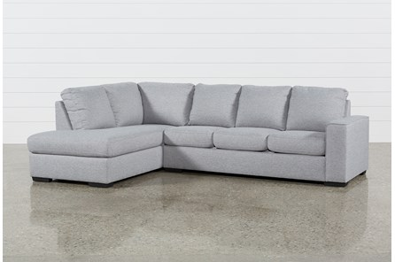 Lucy Grey 2 Piece Sectional With Left Arm Facing Chaise