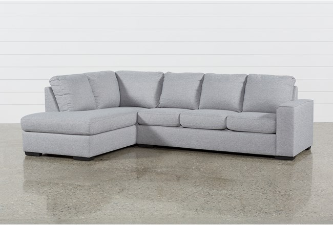 "Lucy Grey 2 Piece 114"" Sectional With Left Arm Facing Chaise - 360"
