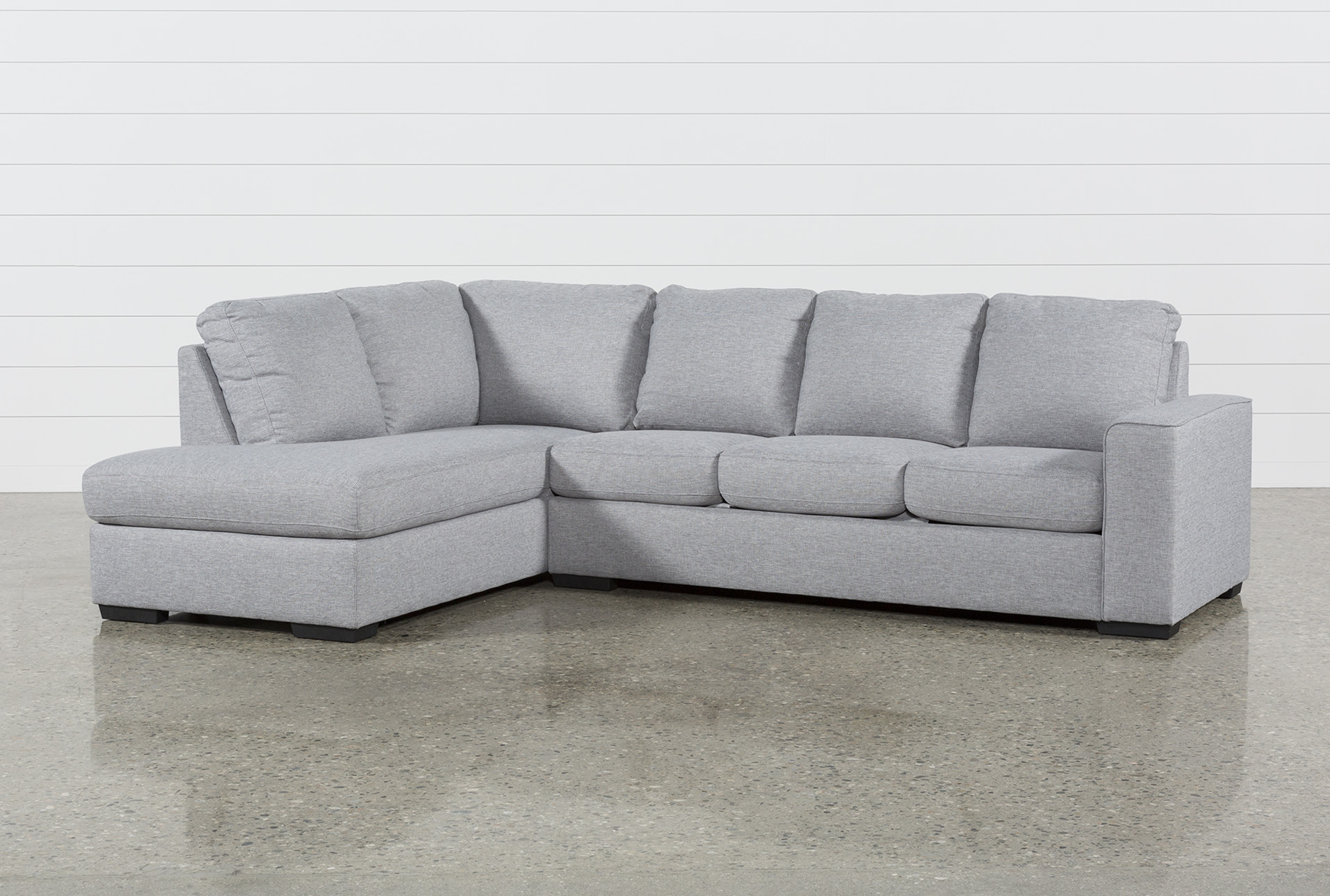 Superbe Lucy Grey 2 Piece Sectional W/Laf Chaise