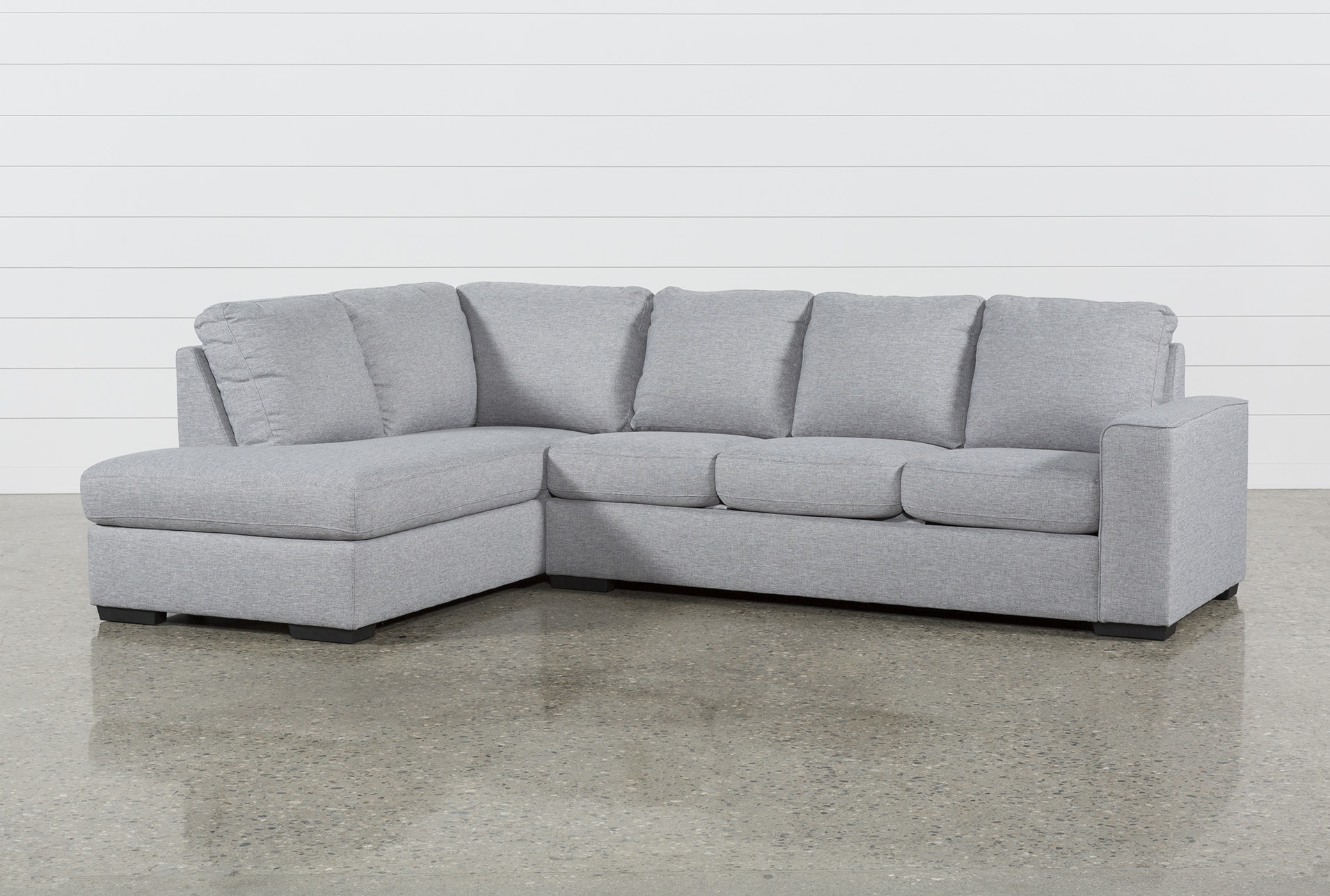 - Lucy Grey 2 Piece Sleeper Sectional With Left Arm Facing Chaise