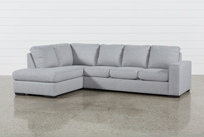 Fabulous Lucy Grey 2 Piece Sleeper Sectional With Left Arm Facing Chaise Gmtry Best Dining Table And Chair Ideas Images Gmtryco