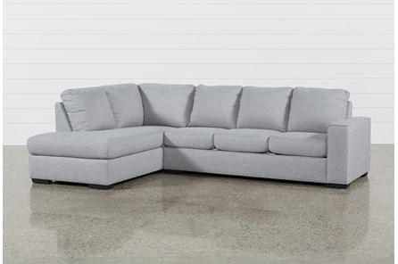 Lucy Grey 2 Piece Sleeper Sectional With Left Arm Facing Chaise