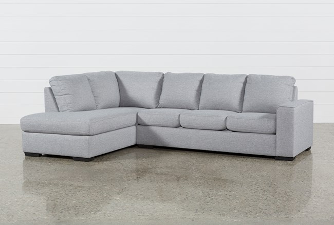 Lucy Grey 2 Piece Sleeper Sectional W/Laf Chaise - 360