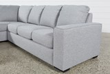 Lucy Grey 2 Piece Sleeper Sectional W/Laf Chaise - Right