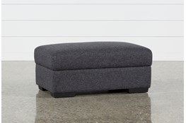 Lucy Dark Grey Storage Cocktail Ottoman