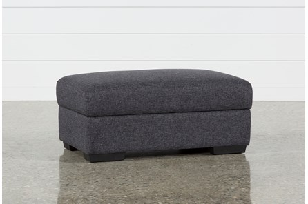 Lucy Dark Grey Cocktail Storage Ottoman - Main