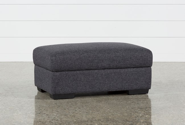 Lucy Dark Grey Cocktail Storage Ottoman - 360