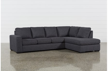 Lucy Dark Grey 2 Piece Sectional With Right Arm Facing Chaise