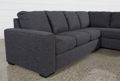 Wondrous Lucy Dark Grey 2 Piece Sectional With Right Arm Facing Chaise Pabps2019 Chair Design Images Pabps2019Com