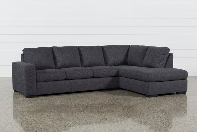 sleeper sectional with chaise Lucy Dark Grey 2 Piece Sleeper Sectional W/Raf Chaise | Living Spaces sleeper sectional with chaise