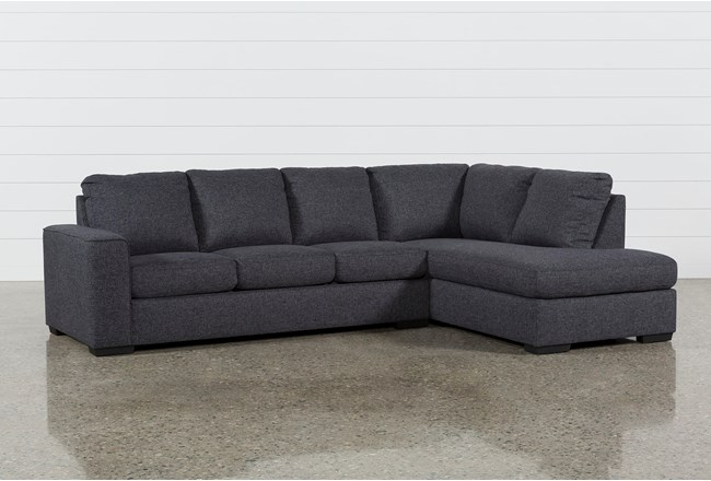 sleeper sectional with chaise Lucy Dark Grey 2 Piece Sleeper Sectional W/Raf Chaise   Living Spaces sleeper sectional with chaise