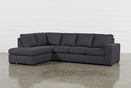 Lucy Dark Grey 2 Piece Sectional W/Laf Chaise