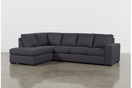 Lucy Dark Grey 2 Piece Sectional With Left Arm Facing Chaise