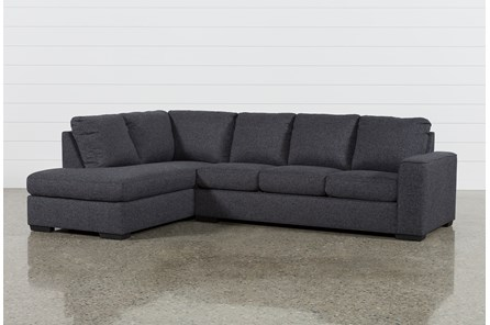 Lucy Dark Grey 2 Piece Sleeper Sectional W/Laf Chaise