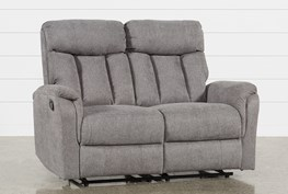 Suzy Dark Grey Reclining Loveseat
