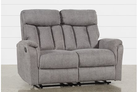 Suzy Dark Grey Reclining Loveseat - Main