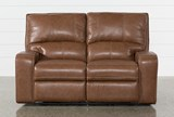 Clyde Saddle Leather Power Reclining Loveseat W/Power Headrest & Usb - Front
