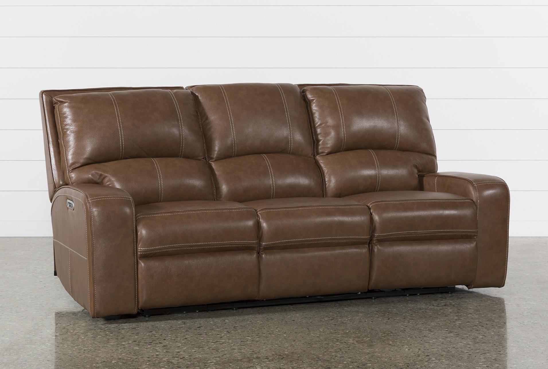 Clyde Saddle Leather Power Reclining Sofa W Power Headrest Usb