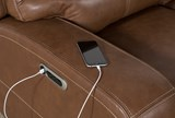 Clyde Saddle Leather Power Reclining Sofa W/Power Headrest & Usb - Feature