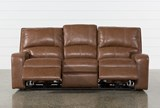Clyde Saddle Leather Power Reclining Sofa W/Power Headrest & Usb - Front