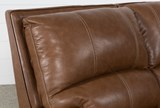 Clyde Saddle Leather Power Reclining Sofa W/Power Headrest & Usb - Top