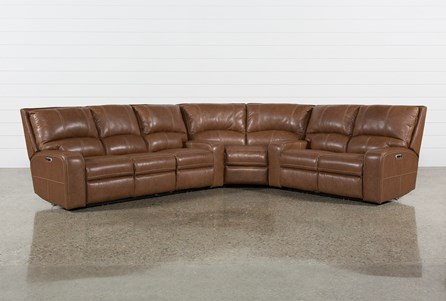 Clyde Saddle 3 Piece Power Reclining Sectional W/Power Hdrst & Usb
