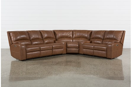 Clyde Saddle 3 Piece Power Reclining Sectional With Power Hdrst & Usb