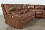 Clyde Saddle 3 Piece Power Reclining Sectional W/Power Hdrst & Usb - Left
