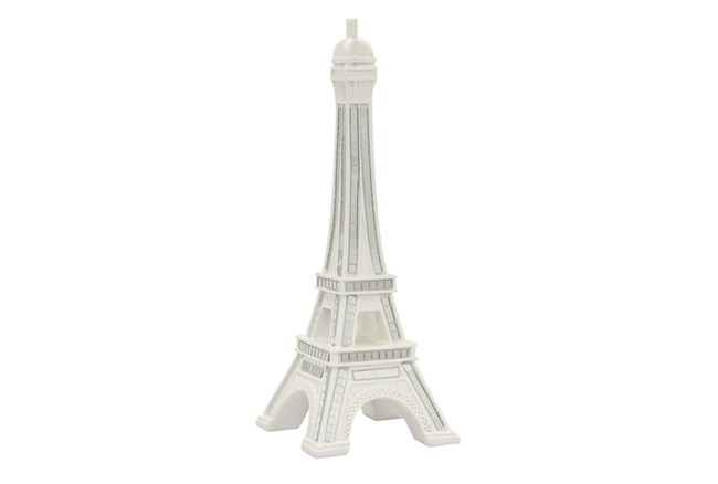 Youth-White Resin Eiffel Tower - 360
