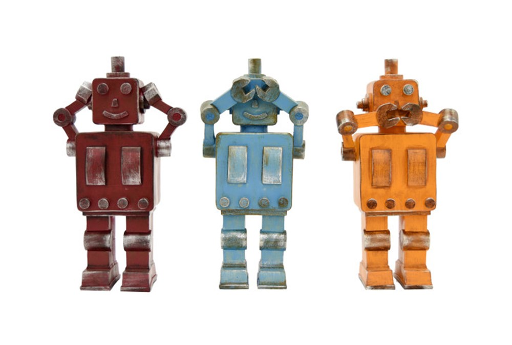 Youth-Robot Set Of 3 Assorted Colors