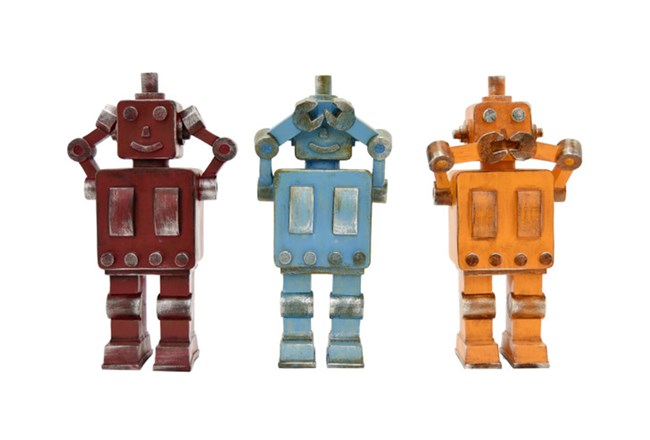 Youth-Robot Set Of 3 Assorted Colors - 360