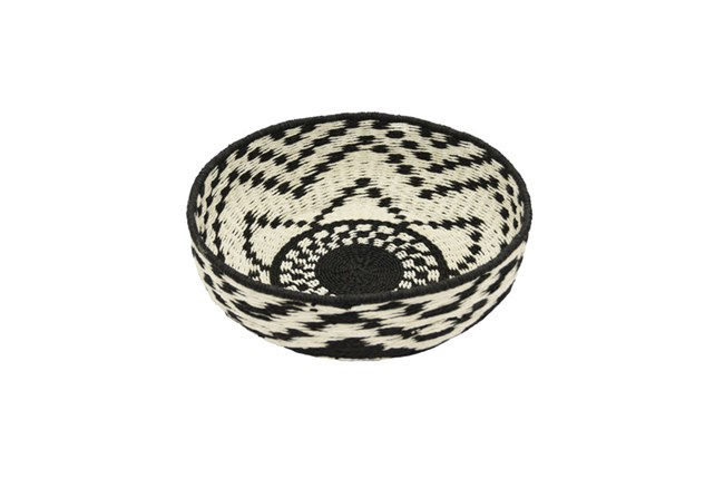 Black And White Woven Basket - 360