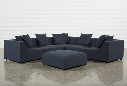 Clayton Dark Grey 6 Piece Sectional