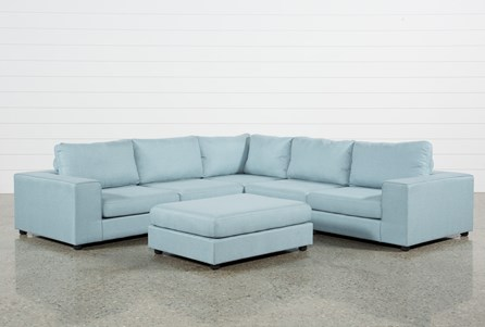 Gabrielle Light Blue 6 Piece Sectional