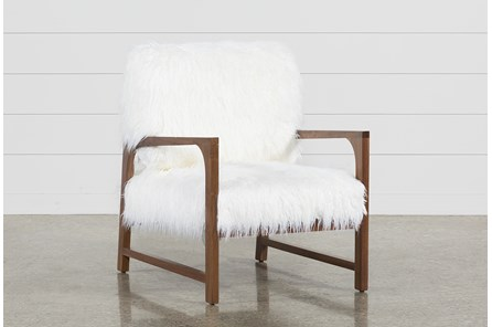 Garbo Fur Accent Chair - Main