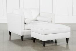 Gregory Chair & Ottoman Set