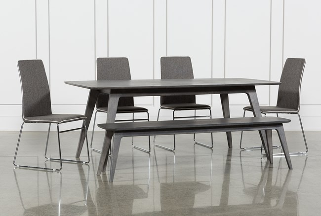 Tribeca 6 Piece Dining Set With Oliver Chairs - 360