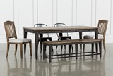 Foundry 6 Piece Dining Set With Upholstered And Metal Chairs - Signature