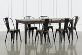 Foundry 7 Piece Dining Set With Metal Side Chairs - Signature