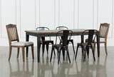 Foundry 7 Piece Dining Set With Upholstered And Metal Chairs - Signature