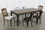 Foundry 7 Piece Dining Set With Upholstered And Metal Chairs - Top