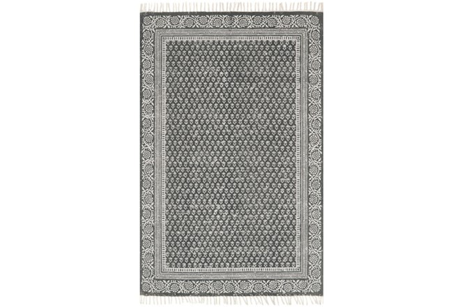 93X117 Rug-Magnolia Home June Charcoal By Joanna Gaines - 360