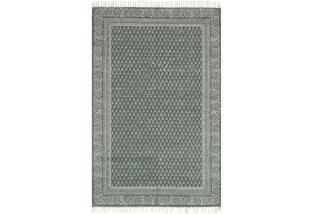 93X117 Rug-Magnolia Home June Green By Joanna Gaines - 360