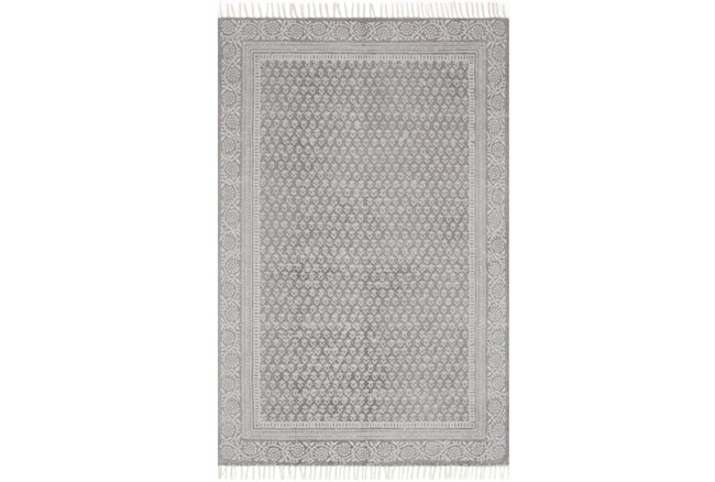 60X90 Rug-Magnolia Home June Grey By Joanna Gaines - 360