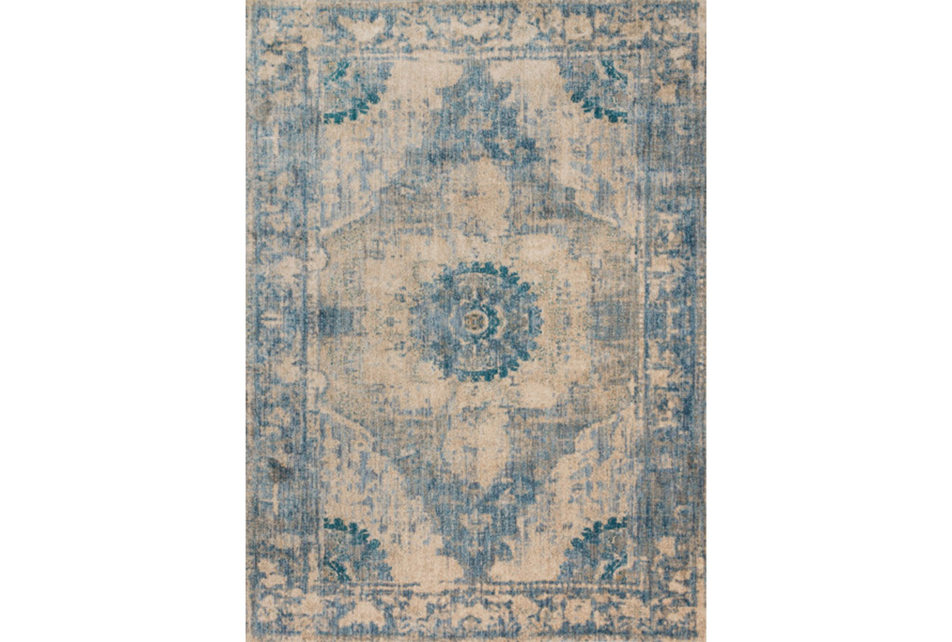 63x92 Rug Magnolia Home Kivi Sand Sky By Joanna Gaines Living Spaces